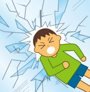 災害時にガラスの飛散を防止します。